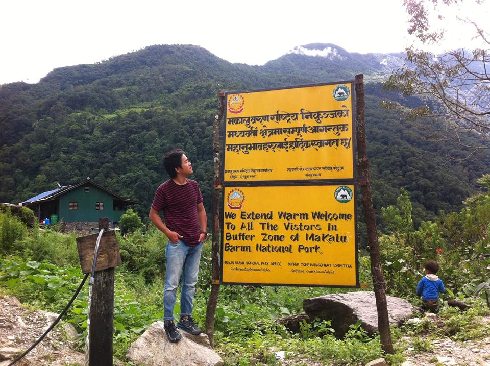 Makalu Barun National Park Welcome Board