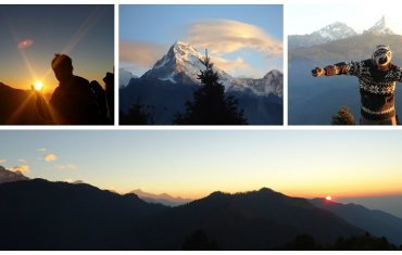 Mountain trekking in Nepal in the different seasons