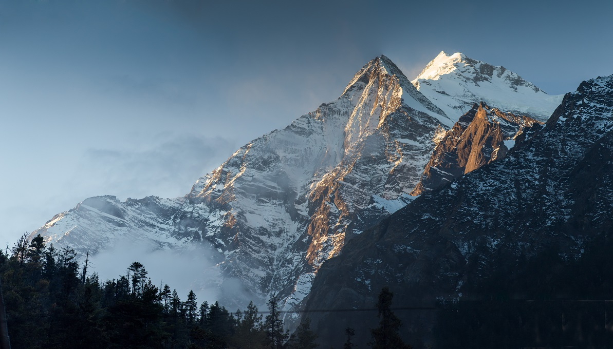 Annapurna South Peak in the Nepal Himalaya