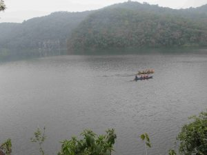 Boats Parked In Fewa Lake
