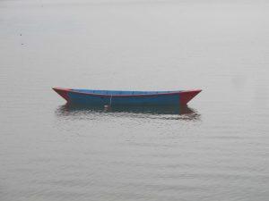 Single Boat In Fewa Lake Pokhara Nepal
