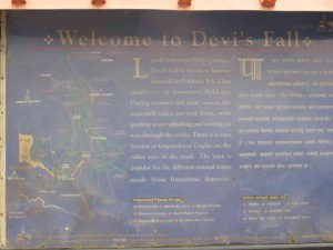 Welcome Board In The Entrance Of Davis Falls
