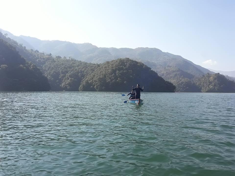 Wide Scenery Of Few Lake In Pokhara