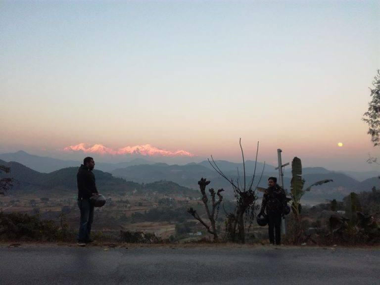 Himalayas View In The Evening From Pokhara Nepal