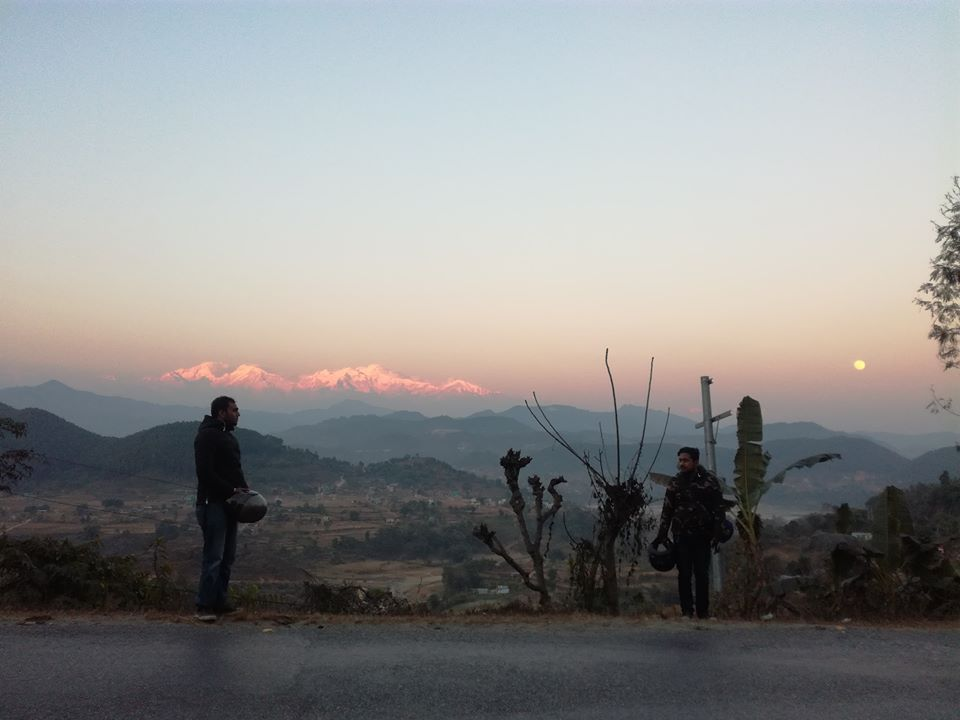 Himalayas View At The Evening Time In Pokhara Nepal