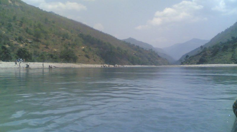 Sun Koshi River View In Dolalghat Nepal