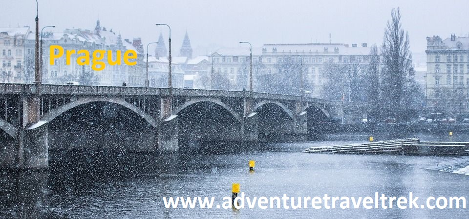 Prague snowy in Winter
