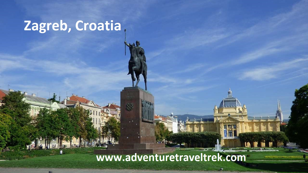 European City Zagreb in Croatia