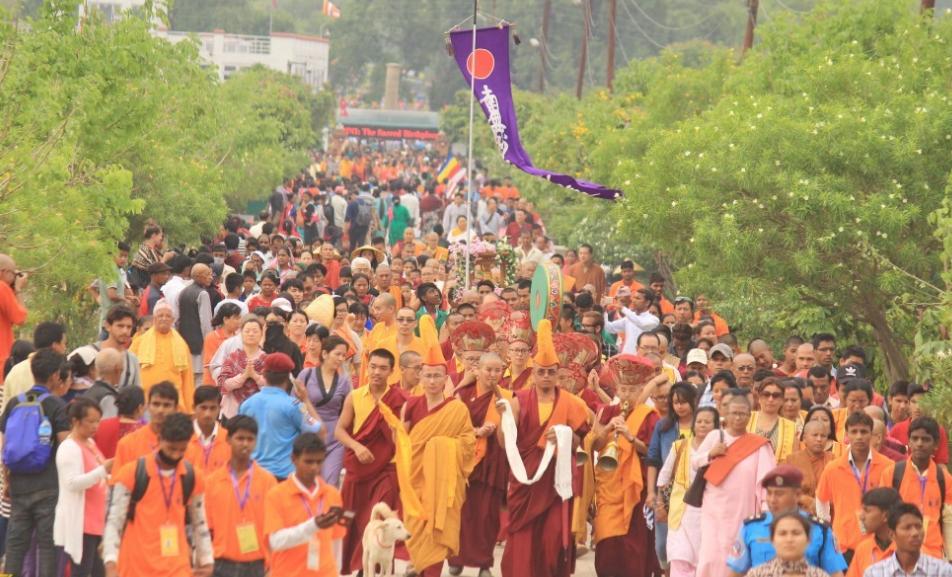 Buddha Jayanti festival in Lumbini, Nepal