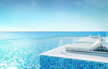 Pool View Sun Loungers Mykonos