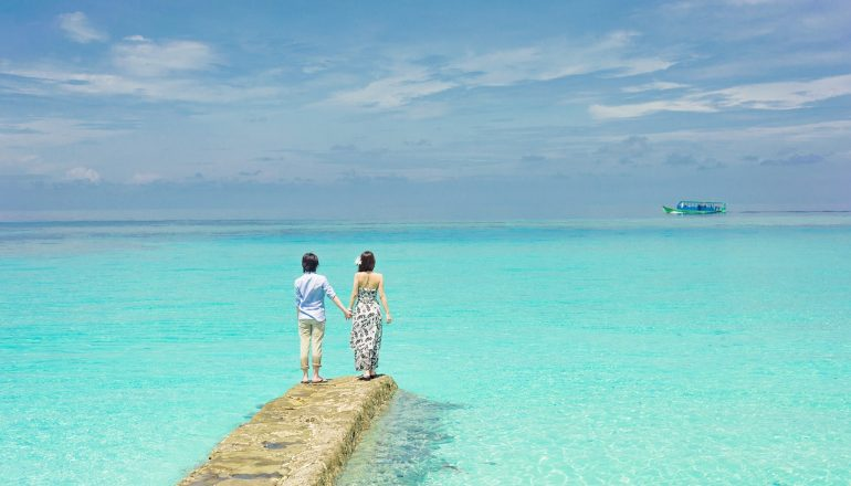 Summer relaxation travel