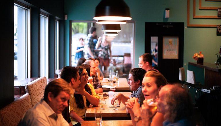 People eating in restaurant
