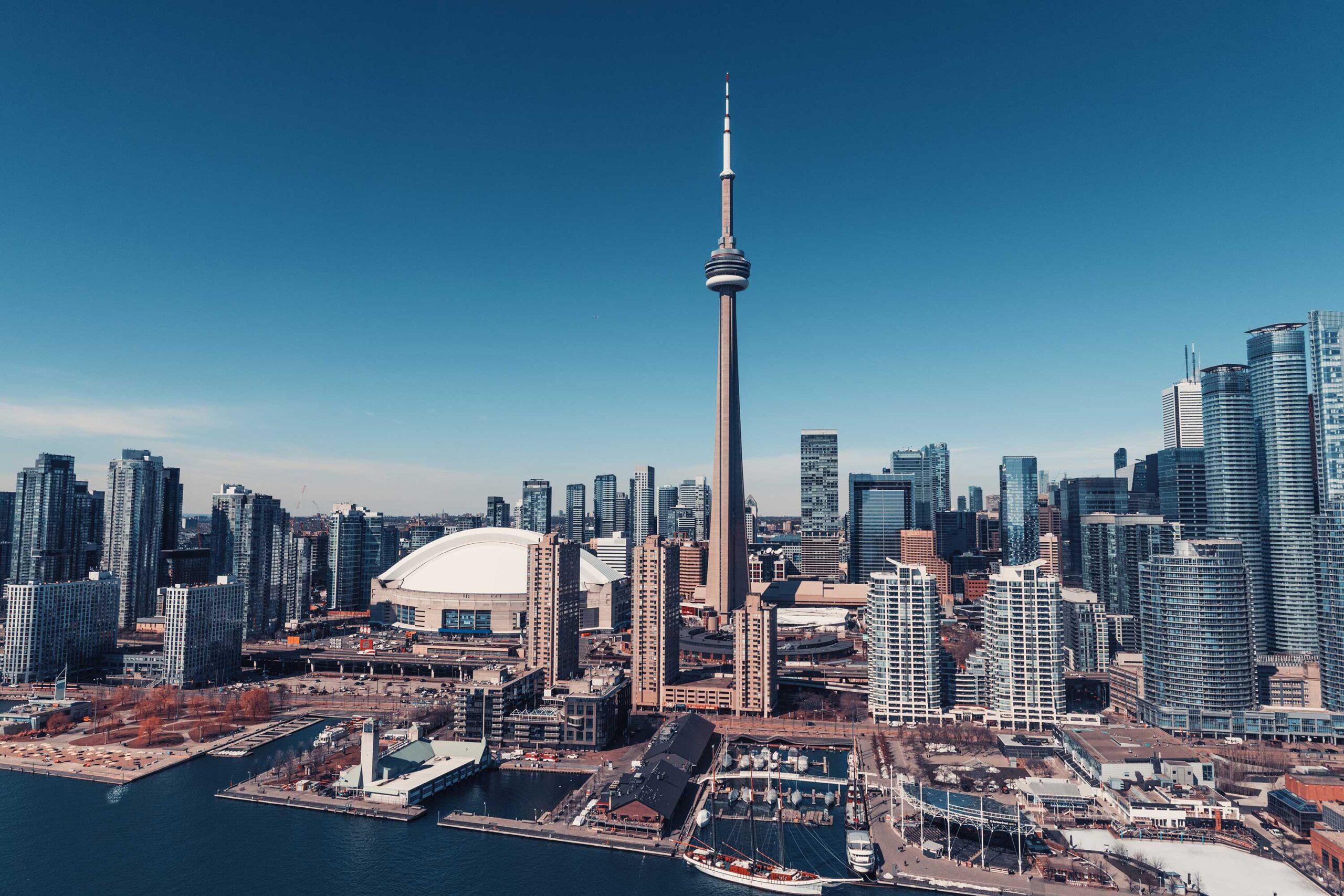 Toronto Skyline Aerial View Canada