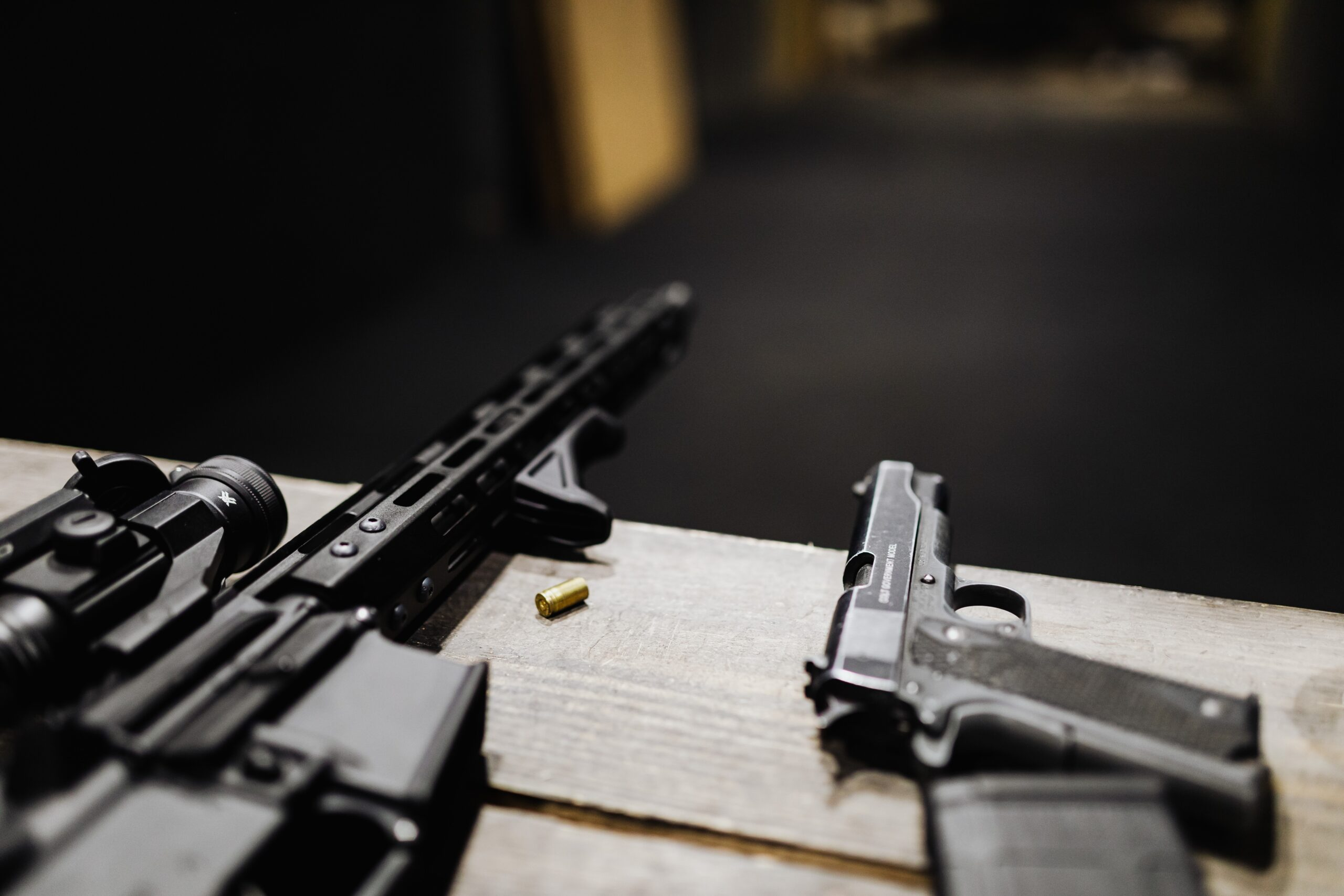 Rifle and automatic pistol